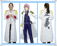 One Piece Navy justice anime costume cloak cartoon role cosplay trench coat man and women party clothing