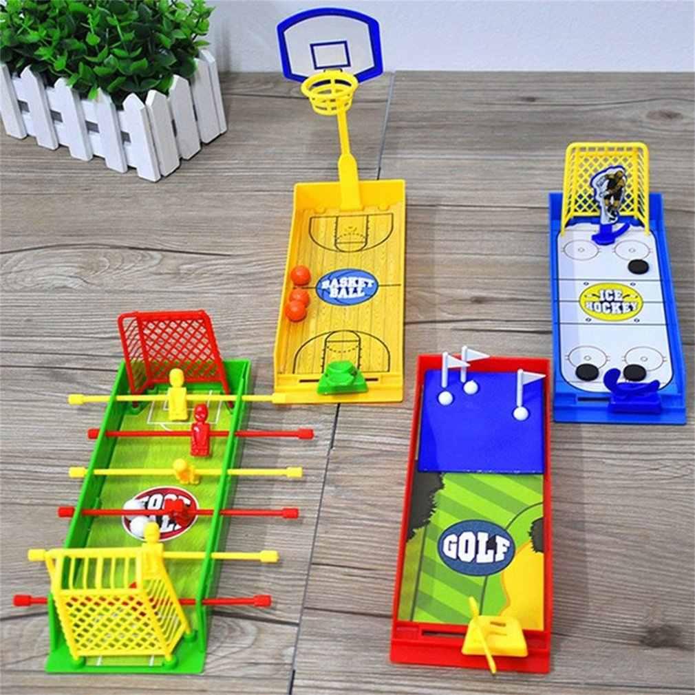 Fútbol baloncesto Golf Hockey Mini juego de escritorio interactivo juguete de lujo niños rompecabezas dedo deportes juguete niños juego de dedos juguete