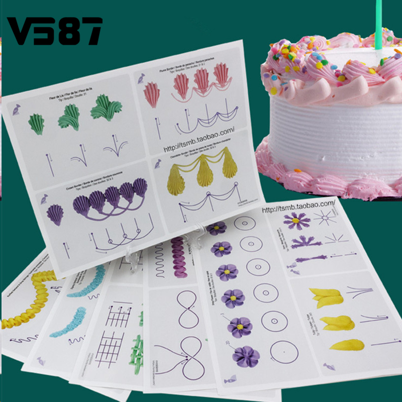 Cake Practice Template Board Piping Icing Drawing DIY ...