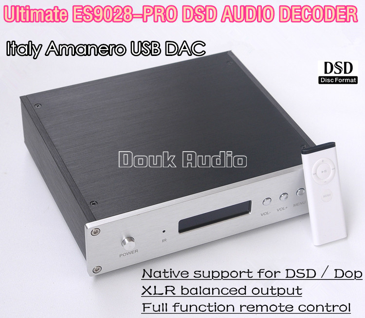 Music Hall Latest  ES9028PRO DAC DSD Italy Amanero USB Module XLR Balance Audio Decoder HiFi PCM384 Amplifier кронштейн hama h 95827 черный 10кг 26