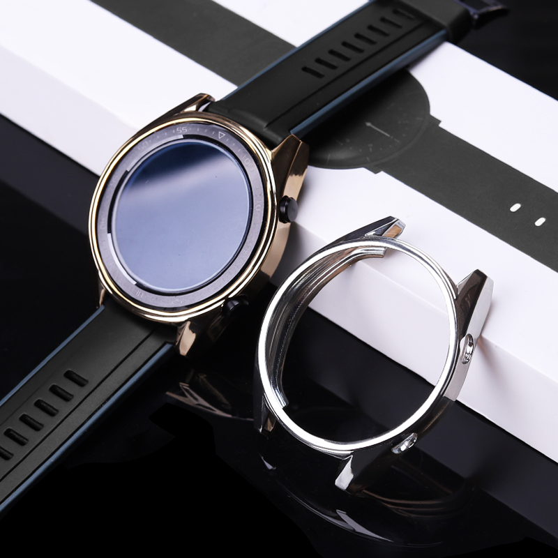 TPU Protective Case For Huawei Watch GT Plating Cover Shell Shockproof Anti-Scratch Watch GT Accessories Watch Glass Film