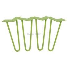 12 «шпильки ноги-зеленый-1/2» стальной стержень-набор из 4-Журнальный Столик Ноги, металлические ножки мебели, DIY Стула