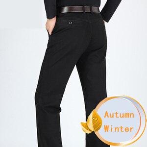 Image 3 - Yeni tasarım sonbahar rahat erkek pantolon pamuk gevşek erkek pantolon yüksek bel düz pantolon moda iş pantolon erkekler artı boyutu 42