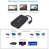 Thunderbolt 3 dock type c to hdmi vga adapter usb c multiport hub dvi displayport dp usb3.0 usb3.1 splitter for macbook pro 2017