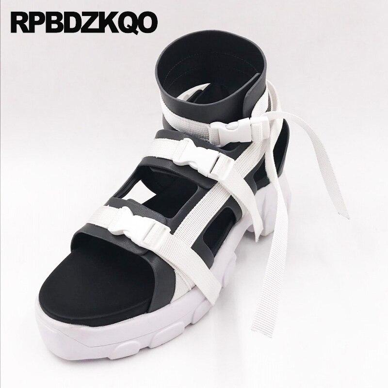 7b21d704be7 Cheap Flatform Cuña Plataforma Sandalias De Mujer Planas Casual Botas  Zapatos Zapatillas Diseñador Gladiador Harajuku Tiras