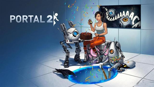 Living Room Home Wall Decoration Fabric Poster Portal Portal 2 Valve