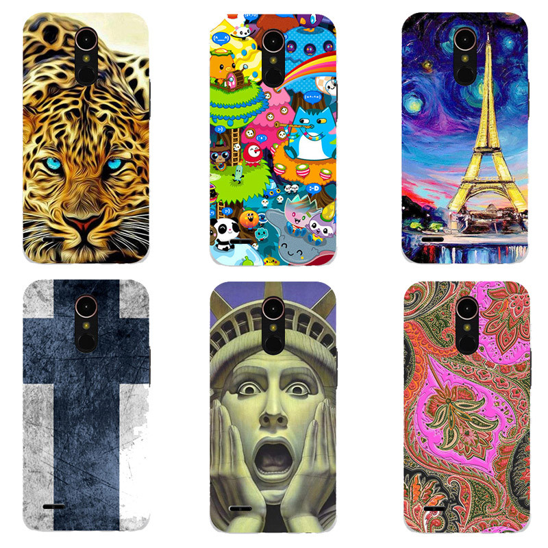 For LG K10 2017 LG X400/LG M250N/K20 Plus Case Luxury Cute Hard Plastic Cartoon Printing Cover Original Phone Back Shell Capa