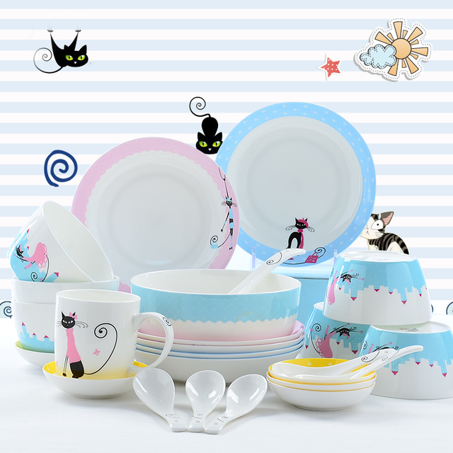 28pcs/set bone china korean dinnerware set bone china tableware plates sets  sc 1 st  AliExpress.com & 28pcs/set bone china korean dinnerware set bone china tableware ...