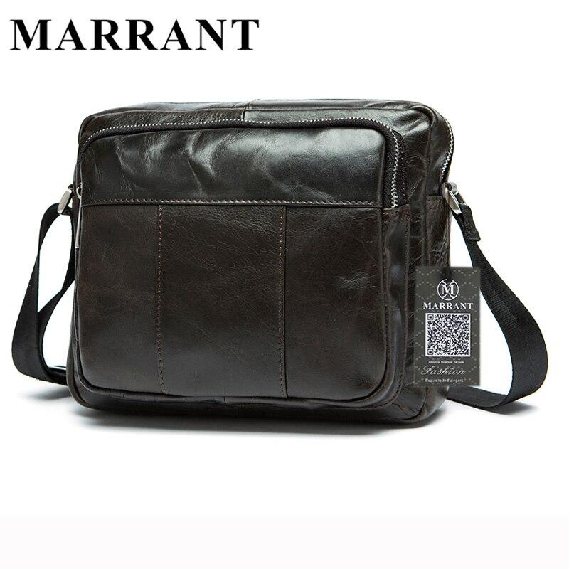 66b029c7583e MARRATN Genuine Leather Men Bags Man Crossbody Bag Men Small Business Bags  Male Messenger Cowhide Leather Shoulder Bag 9039-in Crossbody Bags from  Luggage ...