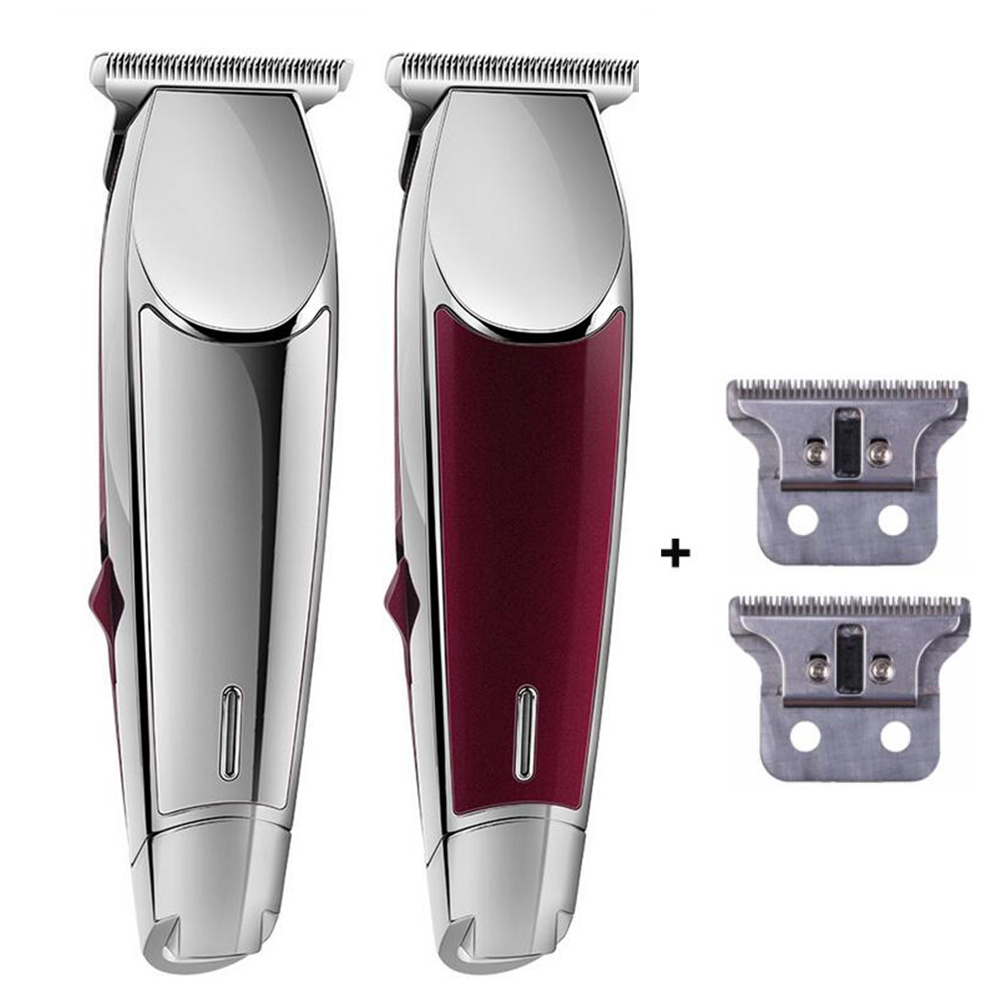 Professional Electric Hair Clipper Steel Blade Rechargeable Hair Trimmer for Men Salon Precision 0 1mm Shaving