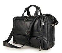 Nesitu черный/Кофе большой Ёмкость Пояса из натуральной кожи Для мужчин Курьерские сумки Портфели портфель 14/15.6 дюймов ноутбук мужской сумка #