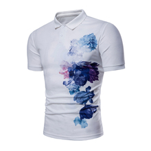 New Cotton Men Polo Shirt Brands Print Short Sleeve Men's Business Polo Shirt Slim Fit Polo Homme Casual Undershirt Men стоимость