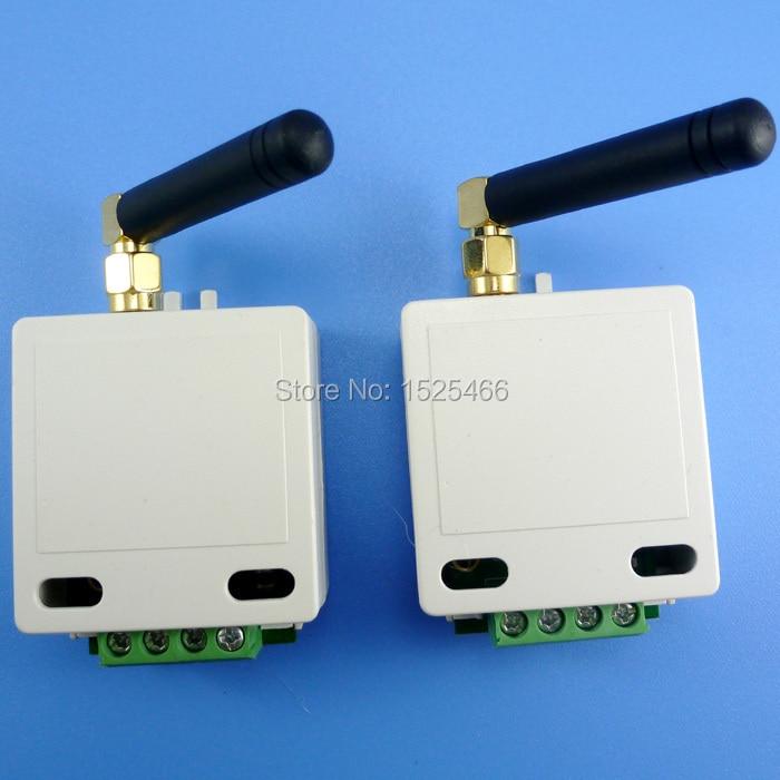 2x433 mhz 1km de longa distância uart rs485 uart módulo transceptor sem fio rf porta serial dados placa de passagem para ptz modbus plc