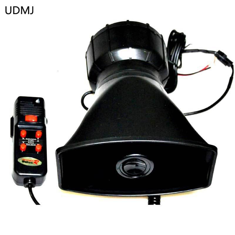 Newest 12V Car Auto Vehicle Truck 5 Sounds Alarm Siren  Horn PA System&Speaker Loud Horn/Siren Max 12v 100w