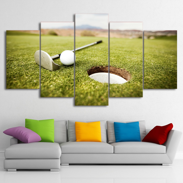 Poster Wall Modular Picture Modern Painting Frame Art 5 Panel Golf ...