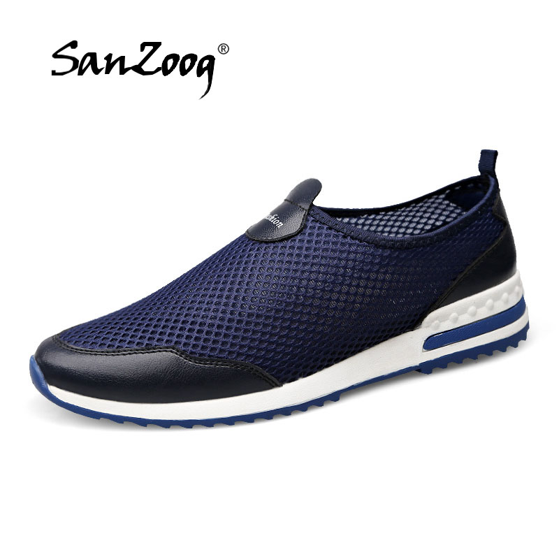 New Men Shoes 2018 Summer Sneakers Breathable Casual Shoes ...
