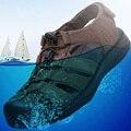 2016 Nuevas Sandalias de Verano de Hombres Zapatos de Plataforma de la Playa Del Verano Al Aire Libre Zapatos Zapatos Para Caminar Suave Sandalias de Cuero Del Ocio