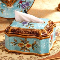 C tissue boxes luxury dining table coffee table fashion ceramic ornaments wedding gift creative personality decoration pumping t