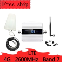 HOT 4G LTE 2600mhz Band 7 cellular signal booster  mobile network Data Cellular Phone Repeater Amplifier Whip Antenna