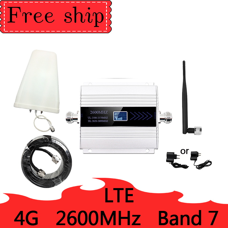 HOT Cellular Signal Booster 4G LTE 2600mhz DCS 4G  Mobile Network Booster 4G Cellular Phone Repeater Amplifier 5dbi Whip Antenna