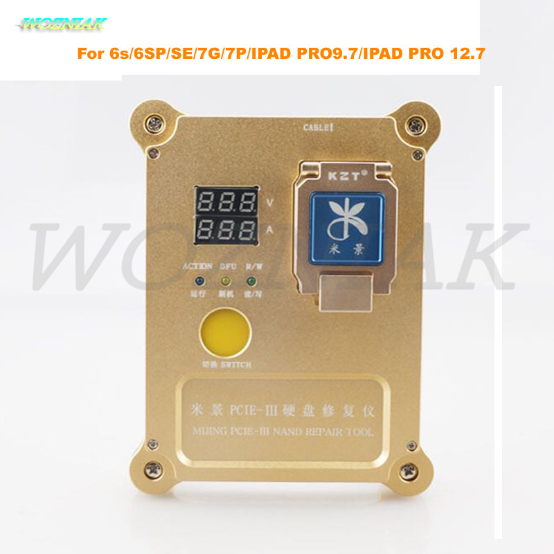 Wozniak MJ PCie Programmer for iphone 6s 6SP SE 7G Plus 7P IPAD PRO9.7 for PRO 12.7 Hard disk test rack HDD nand Repair SN wozniak dcsd usb cable mobile phone 64bit for iphone hdd test fixture line hard disk engineering cable for iphone parts line sn