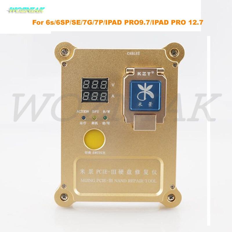 Wozniak PCie Programmer for iphone 6s 6SP SE 7G Plus 7P IPAD PRO9.7 PRO 12.7 Hard disk test rack HDD nand Repair SN WIFI Bottom daikin ftxb60c rxb60c