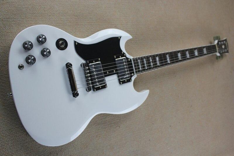 Custom Guitarras Handed Branco 400 Guitarra Eletrica 22 trastes Guitarra Frete gratis Atacado Fabrica de Guitarras Da China