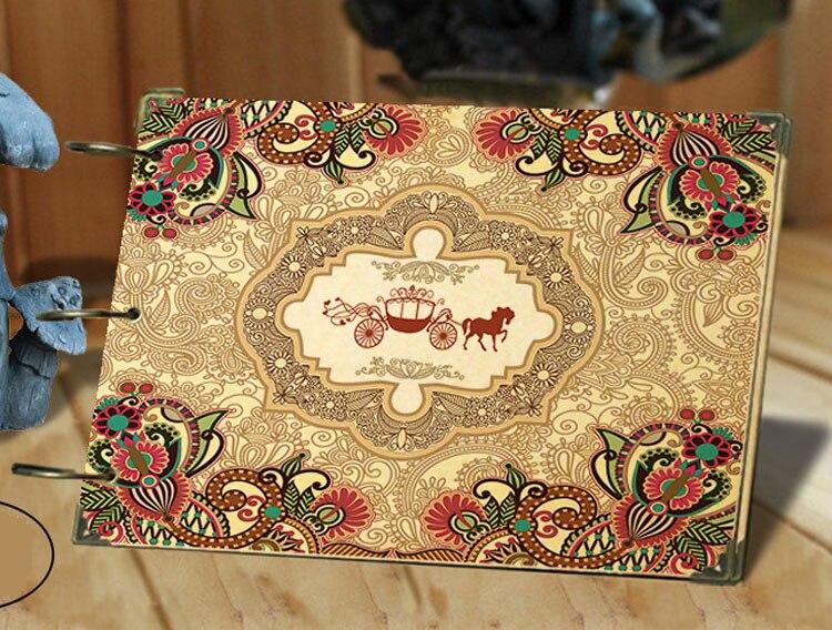 Retro Pattern DIY Loose-leaf Photo Album Creative Scrapbooking Gift Travel Baby Scrapbook Craft Handmade 10 Inch Free Shipping