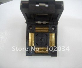 100% NEW  IC51-1764-1505 QFP176 TQFP176 0.5MM IC Test Socket / Programmer Adapter / Burn-in Socket IC51-1764-1505-5) qfp176 tqfp176 lqfp176 burn in socket pitch 0 5mm ic body size 24x24mm otq 176 0 5 06 test socket adapter