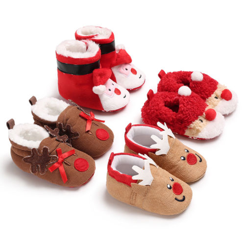 Christmas Boots For Girls.Us 2 7 10 Off Toddler Kids Girls Christmas Snow Boot Shoes Xmas Gifts Newborn Baby Girl Crochet Winter Warm Soft Sole Prewalker Mocassins In Boots