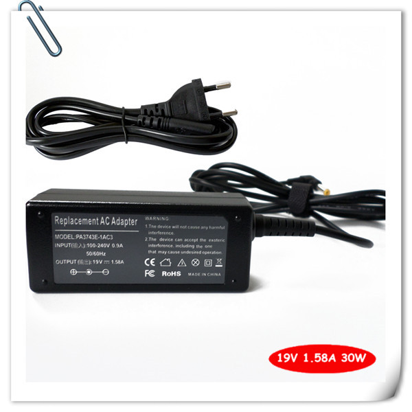 19V 1.58A 30W AC Adapter Laptop Battery Charger For Toshiba R33030 <font><b>N17908</b></font> <font><b>V85</b></font> Notebook Power Supply Cord image