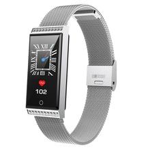 X11 Rhinestones Smart Watch IP68 Heart Rate Monitor Pedometer Fitness Tracker Bracelet with Brightness Adjustment for Women P30