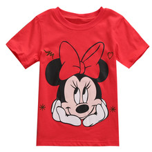 New Style Fashion Baby Boy Girls Clothes Novelty Short Sleeve T-shirt Mickey Minnie Costume Tees Tops 2-7T
