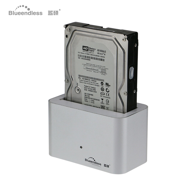 1 bay sata aluminum boitier disque dur 3.5& 2.5 sata hdd docking silver external hdd case usb 3.0 best sell hdd case