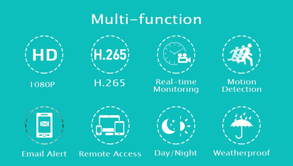 Hiseeu 1080P POE IP Camera ONVIF H.265 Audio Record CCTV Camera 2.0mp Waterproof IP66 Outdoor Home Security Video Surveillance