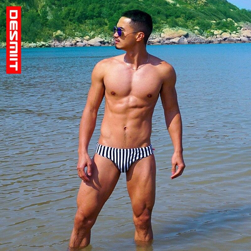 DESMIIT dos homens sensuais sunga surf bermudas listradas calção de banho swimwear maiôs maiô plavky zwembroek badpak