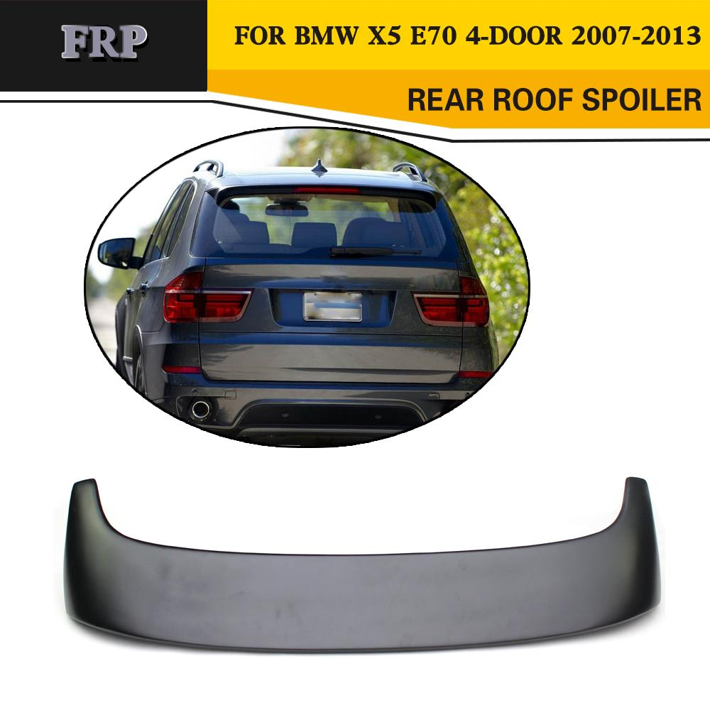 FRP Car Rear Roof Spoiler Lip Wing Car-Styling for BMW X5 E70 4-Door 2007-2013 image