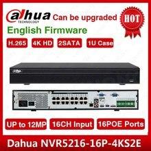 DHL חינם Dahua המקורי אנגלית NVR5216 16P 4KS2 H.265 16CH 1U 16PoE יציאות 4K רשת וידאו מקליט NVR5216 16P 4KS2E