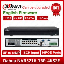 DHL kargo Dahua orijinal İngilizce NVR5216 16P 4KS2 H.265 16CH 1U 16PoE port 4K ağ Video kaydedici NVR5216 16P 4KS2E