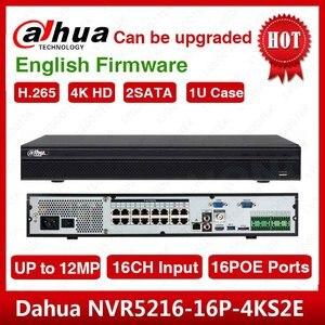 Image 1 - DHL wysyłka Dahua oryginalna, angielska NVR5216 16P 4KS2 H.265 16CH 1U 16PoE porty 4K sieciowy rejestrator wideo NVR5216 16P 4KS2E
