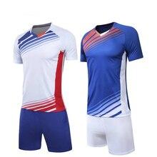 Los niños adultos jóvenes de fútbol ropa de manga corta de la competencia  ropa de entrenamiento 7e249c59320af