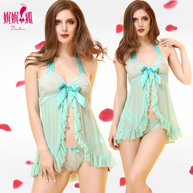 2pcs/lot Fashion Women Sexy Lingerie Cute Girl Hot Erotic Nightwear Ladies Sexy Dressing Gown
