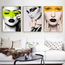 70*100cm New Nordic Style Girl Canvas Abstract Painting Wall Art Poster and Print Decorative Picture Modern Home Decoration