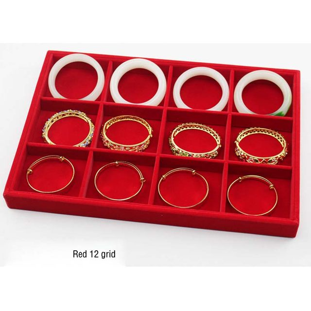 Online Shop Retail Portable Jewelry Box Red Velvet Jewelry Display