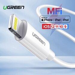 Câble USB Ugreen MFi pour iPhone X Xs Max XR 2.4A câble de données de chargeur USB à Charge rapide pour câble iPhone 8 7 6 Plus cordon de Charge USB