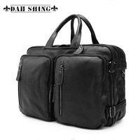 Large capacity Full Grain cowhide/genuine leather men travel bags briefcase handbag M/L size