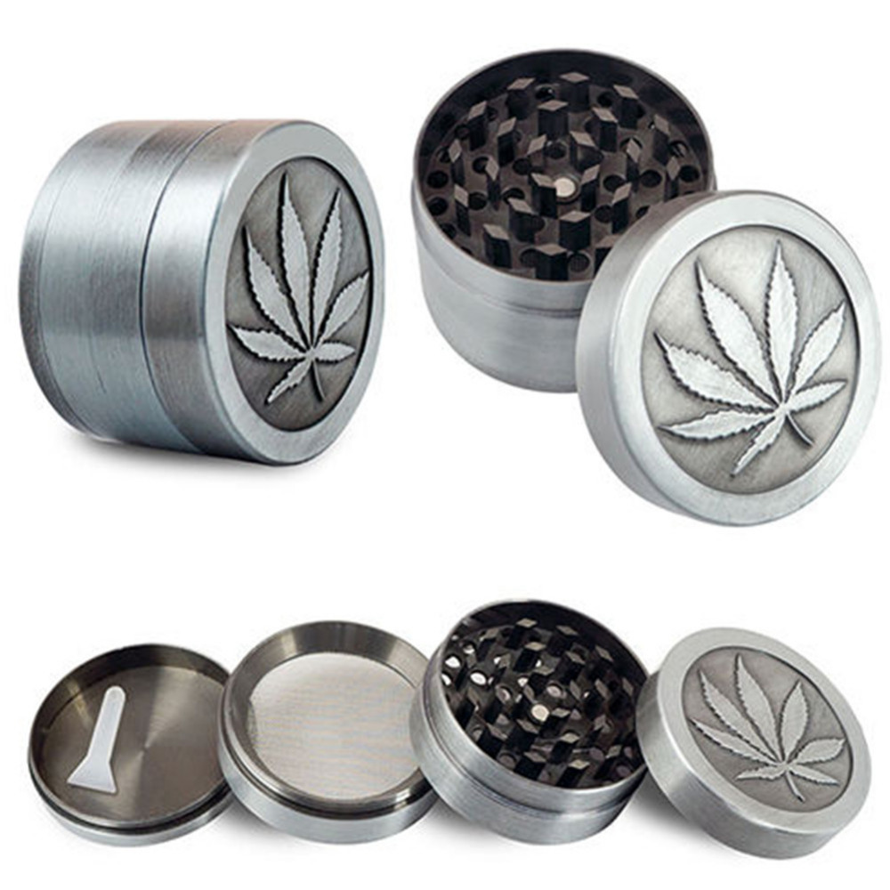 AIHOME 4 Layer Zinc Alloy 40mm Herb Spice Grass Weed