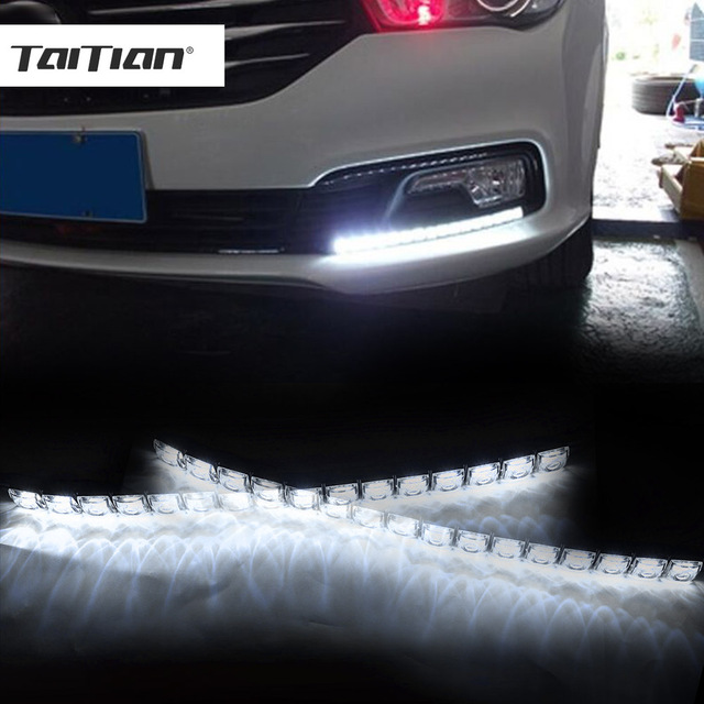 Taitian 2pcs Cob Car Super White Flexible Led Daytime
