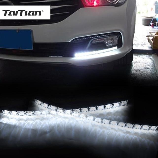 Taitian 2pcs Cob Car Super White Flexible Led Daytime