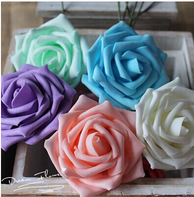 Free Shipping Wholesale Artificial Silk Rose Flower Edge Wedding